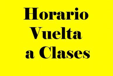 Horario Vuelta a Clases imagen asignada